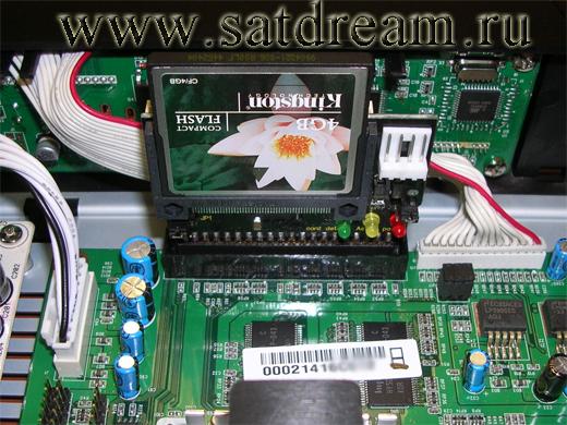 Установка CompactFlash в AZBOX