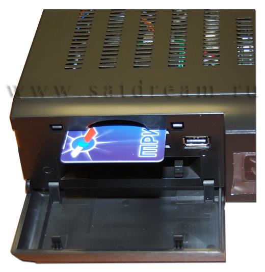 Картоприемник и PCMCIA слоты ресивер AZBOX Premium HD