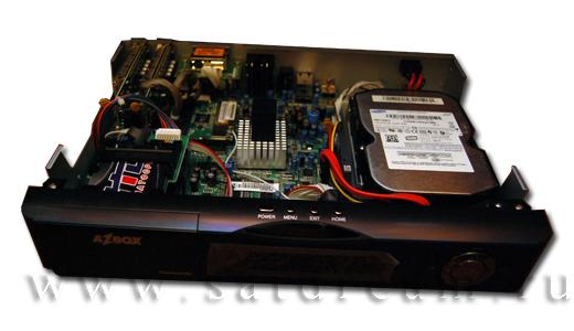 Ресивер AZBOX Premium с установленным жетским диском