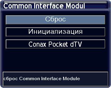 Меню Common Interface